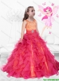 2016 Perfect Scoop Lace Up Mini Quinceanera  Dresses with Brush Train
