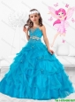 New Style Scoop Beaded and Bowknot Mini Quinceanera Dresses
