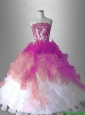 2016 Appliques Ball Gown Classical Sweet 16 Gowns with Ruffles
