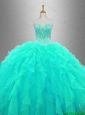 2016 Ball Gown Elegant Sweet 16 Dresses with Beading and Ruffles