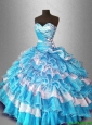 2016 Ball Gown Popular Sweet 16 New arrival Dresses with Beading and Ruffles