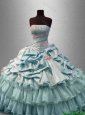 2016 Classical Strapless Quinceanera Elegant Dresses with Pick Ups and Beading