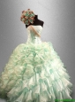 Pretty 2016 Strapless Quinceanera Elegant Dresses with Beading and Ruffles