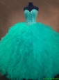 2016 New arrival Gorgeous Cheap Sweetheart Ball Gown Sweet 16 Dresses in Turquoise