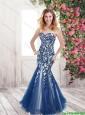 Best Selling Luxurious Mermaid Sweetheart Prom Dresses with Appliques and Beading