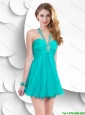 Cheap Lovely Popular Criss Cross Short Prom Dresses in Turquoise