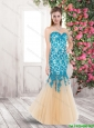 Luxurious Mermaid Laced Prom Dresses in Multi Color