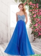 Popular New Style Popular Empire Sweetheart Beaded Prom Dresses with Brush Train