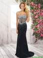 Best Selling New Style Column Sweetheart Prom Dresses with Beading
