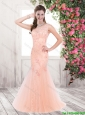 Cheap Lovely New Style Mermaid Bateau Laced Prom Dresses with Beading