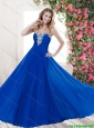 Classical Luxurious Latest Empire Sweetheart Beaded Prom Dresses with Brush Train
