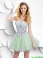 Gorgeous Exclusive Luxurious A Line Laced Short Prom Gowns with Mini Length