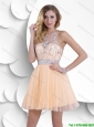 New Style Most Popular Beaded Scoop Prom Dresses with Zipper Up