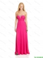 2015 Pretty Empire Sweetheart Prom Dresses with Brush Train in Hot Pink