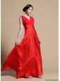 Discount Empire V Neck Prom Dresses with Beading