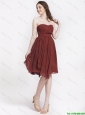 Popular Chocolate Sweetheart Prom Dresses with Ruching
