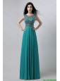 Discount Bateau Floor Length Prom Dresses with Beading