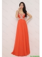New Arrivals Brush Train Prom Dresses with High Slit and Beading