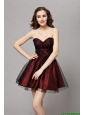 Beautiful A Line Sweetheart Wine Red Prom Gowns with Beading 2016