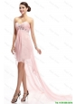 Best Selling Sweetheart Beaded Prom Gowns with High Low