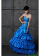 Discount A Line Sweetheart Prom Dresses with Ruffled Layers