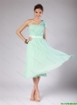 Discount One Shoulder Side Zipper Prom Dresses in Apple Green