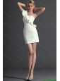 2016 Most Popular One Shoulder White Prom Dress with Ruffles 85.72