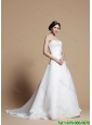 Beautiful A Line Wedding Dresses with Beading and Appliques