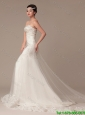 Luxurious Beading and Lace White Wedding Dress with Court Train