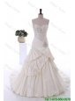 Beautiful Beading Wedding Gowns with Court Train
