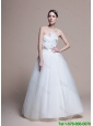 Custom Made A Line Sweetheart Wedding Dresses with Ruching