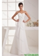 Remarkable Beading White Wedding Dress with Court Train