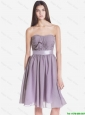 Exquisite Strapless Short Prom Dresses with Belt and Ruching