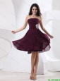 Luxurious Strapless Brown Short Prom Dress with Appliques