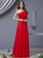 Beautiful Empire One Shoulder Brush Train Prom Dresses for 2016