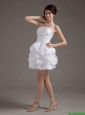 Latest Short Strapless White Prom Gowns with Pick Ups