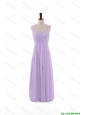 Beautiful Most Popular 2016 Straps Lavender Long Prom Dresses with Ruching