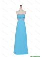 Cheap 2016 Fall Empire Strapless Prom Dresses with Beading in Baby Blue