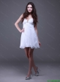 Classical Mini Length White Prom Dresses with Sweetheart
