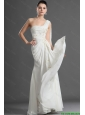 New Arrival One Shoulder Appliques White Prom Dress with Watteau Train for 2016