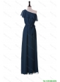 Perfect Exclusive One Shoulder Sashes and Ruffles Prom Dresses in Navy Blue
