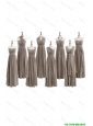 Pretty Cheap 2016 Empire Grey Long Prom Dresses with Ruching