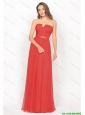 Beautiful Strapless Belt and Ruched Prom Dresses in Red