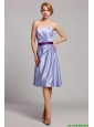 Classical Empire Strapless Short Prom Dresses with Belt in Lavender