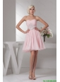 Classical Sweetheart Baby Pink Short Prom Dress with Beading