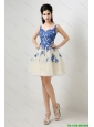 New Arrivals A Line Bateau Prom Dresses with Appliques
