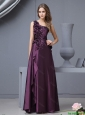 New Arrivals One Shoulder Beaded Prom Dresses with Hand Made Flowers