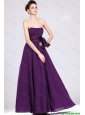 New Arrivals Strapless Prom Dresses with Ruching and Bowknot