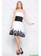 New Arrivals Strapless Short Prom Dresses with Belt and Appliques