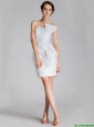 New Arrivals  Column Strapless White Prom Dresses with Mini Length